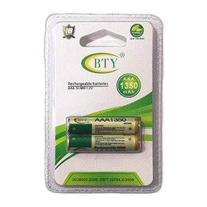 BTY Rechargeable 1.2V 1350mAH AAA Batteries
