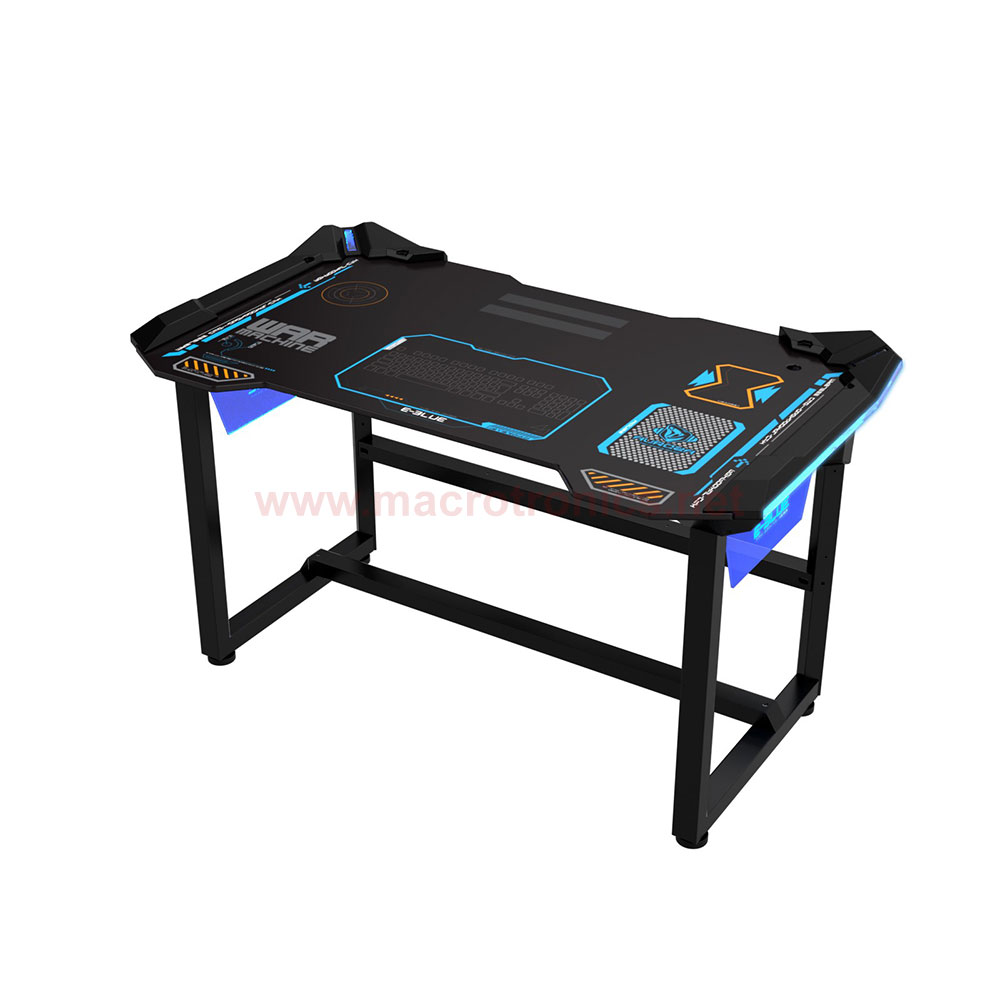 E blue auroza led gaming desk 1 2meter egt536 gaming for Schreibtisch 1 50 m