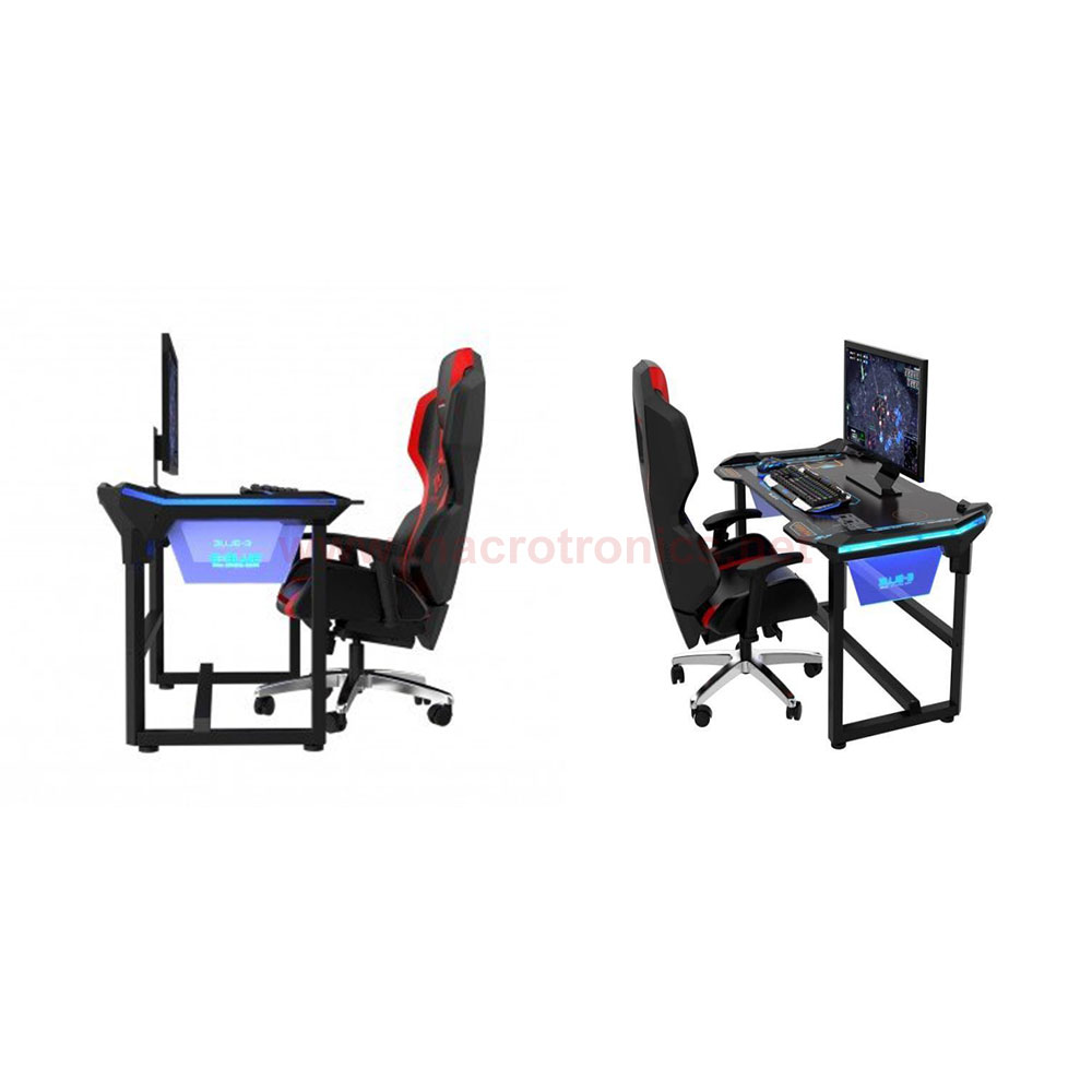 E Blue Auroza Led Gaming Desk 1 2meter Egt536 Chairs And Desks Macrotronics Computers