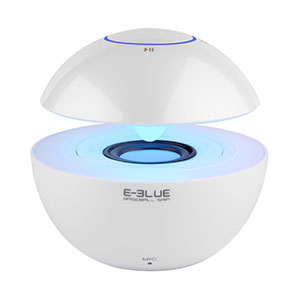 E-Blue Portable Bluetooth Speaker With 7 Colors Light White - ESP201