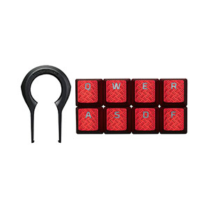 HyperX FPS & MOBA Gaming Keycaps Upgrade Kit Red - HXS-KBKC1