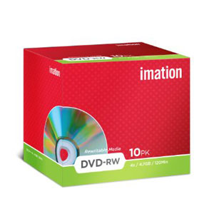 Imation DVD+RW - Pack Of 10