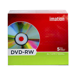 Imation Mini DVD-RW - Pack Of 5