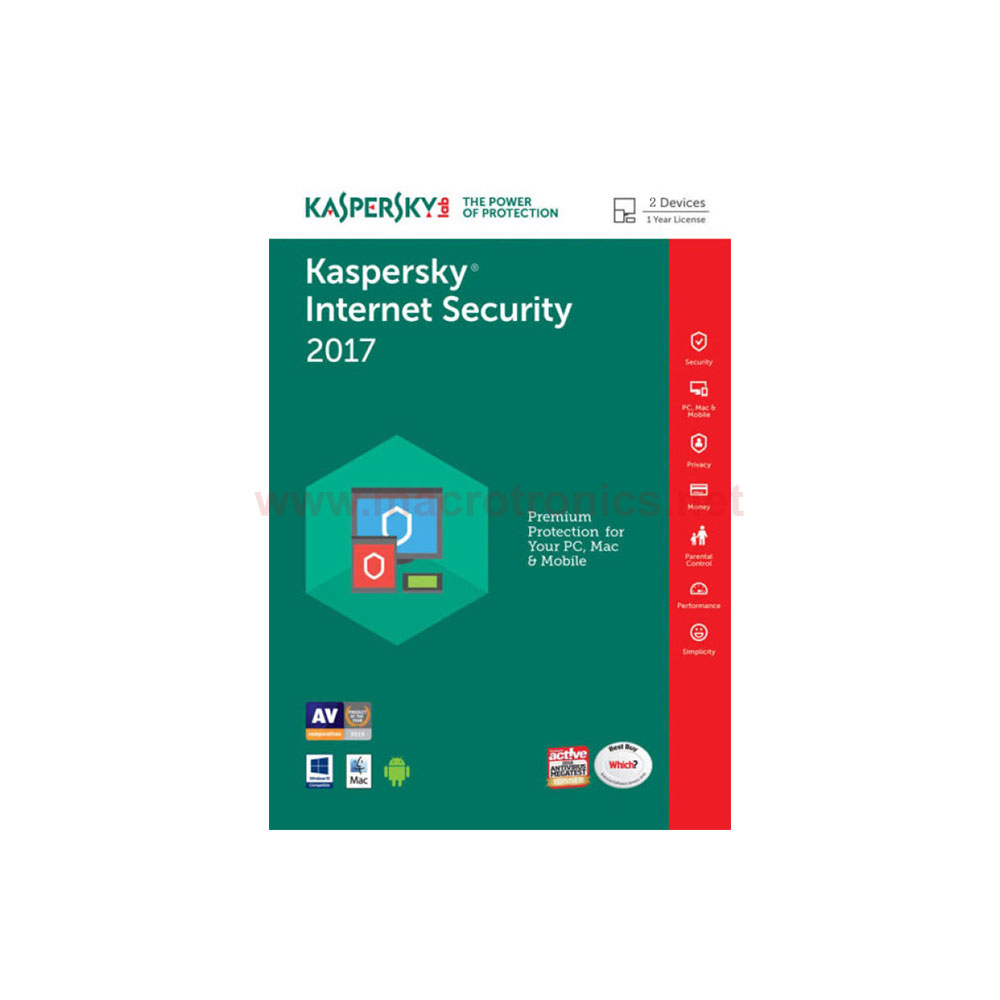 Kaspersky internet security 2017 incl license 2 years