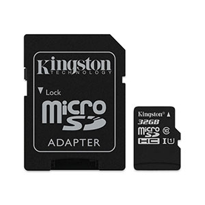 Kingston 64GB microSDHC Canvas Select Plus Class 10