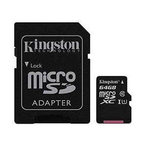 Kingston Micro-SD Card 64GB G2 - Class 10