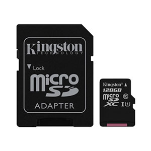 Kingston Micro-SD Card 128GB- Class 10