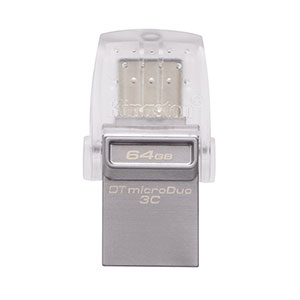 Kingston DataTraveler microDuo 3C 64GB USB 3.1 Flash Drive Type C