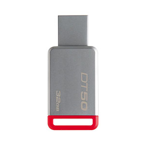 Kingston DataTraveler 50 32GB USB 3.0 Flash Drive - Red