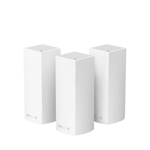 Linksys Velop Intelligent Mesh WiFi System, Tri-Band, 3-Pack White (AC6600)-WHW0303