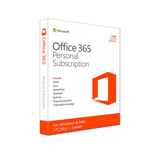 Microsoft Office 365 Personal 1 Year Subscription