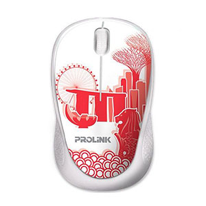 Prolink PMC1005 USB Optical Mouse - Red Print