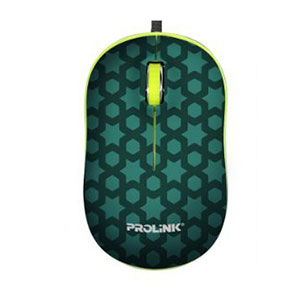 Prolink PMC1006 USB Optical Mouse - Green Print