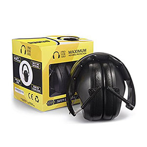 Pro For Sho Safety Ear Muffs  EP-138 Highest NRR 34dB Black