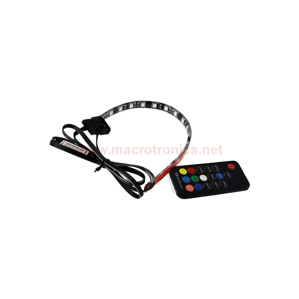 raidmax gluhen remote control led light strip pack rgb