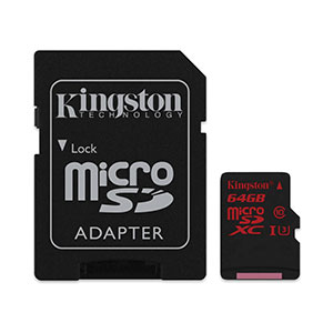 Kingston MicroSD Card 64GB - 4K/2K Videos