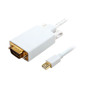 Traffic Mini DisplayPort To VGA Cable C123D White