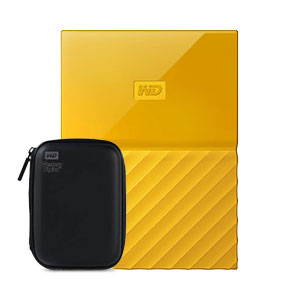 Western Digital My Passport 2TB Portable Hard Disk Yellow With HDD Case